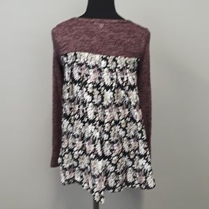 MOA floral back top size xs